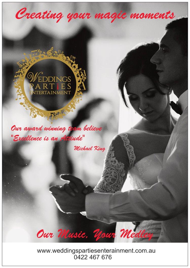 Wedding Entertainment Brochure Front